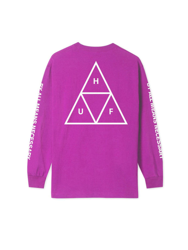 TRIPLE TRIANGLE LONG SLEEVE TEE SANGRIA