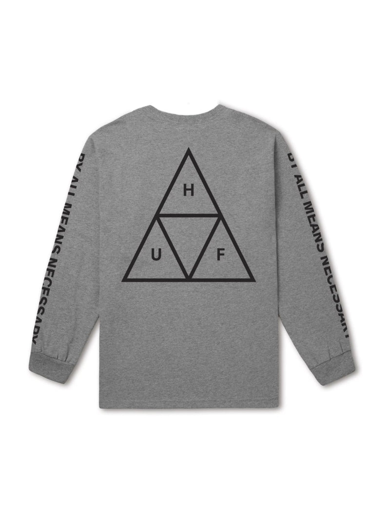 TRIPLE TRIANGLE LONG SLEEVE TEE GREY HEATHER