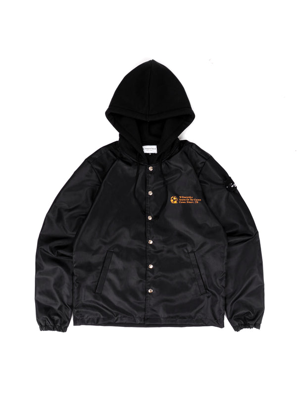 Hymne D'Europe Windbreaker w/hood noir black