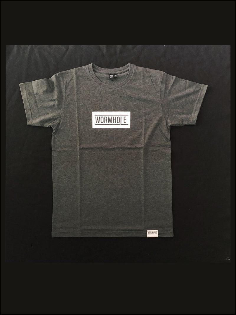 Wormhole Merch Box Logo Classic Cut Heather Grey