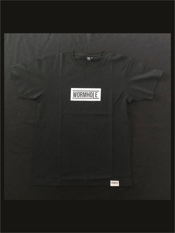 Wormhole Merch Box Logo Classic Cut Black/White