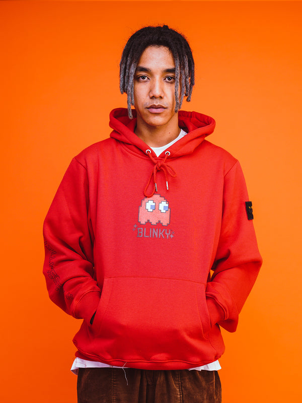 "W.ESSENTIELS x Faith x PAC-MAN™ ""Blinky"" Hoodie Cherry"