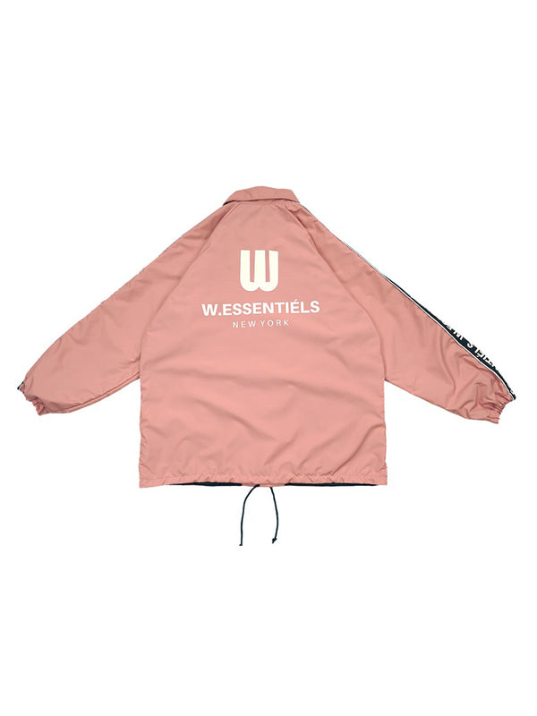 W.ESSENTIÉLS x NEVER TOO OLD Jaket Patrick Stadium Windbreaker Pink