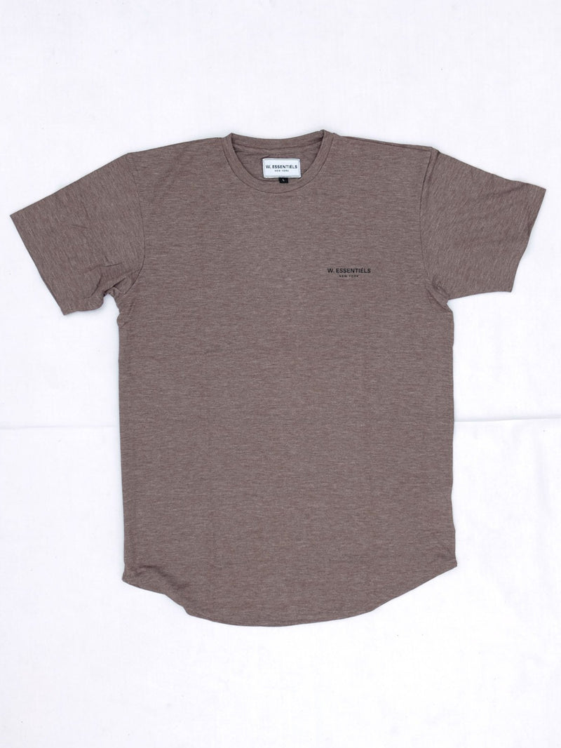 W ESSENTIELS Chest Logo Oversize Tee Moccacino