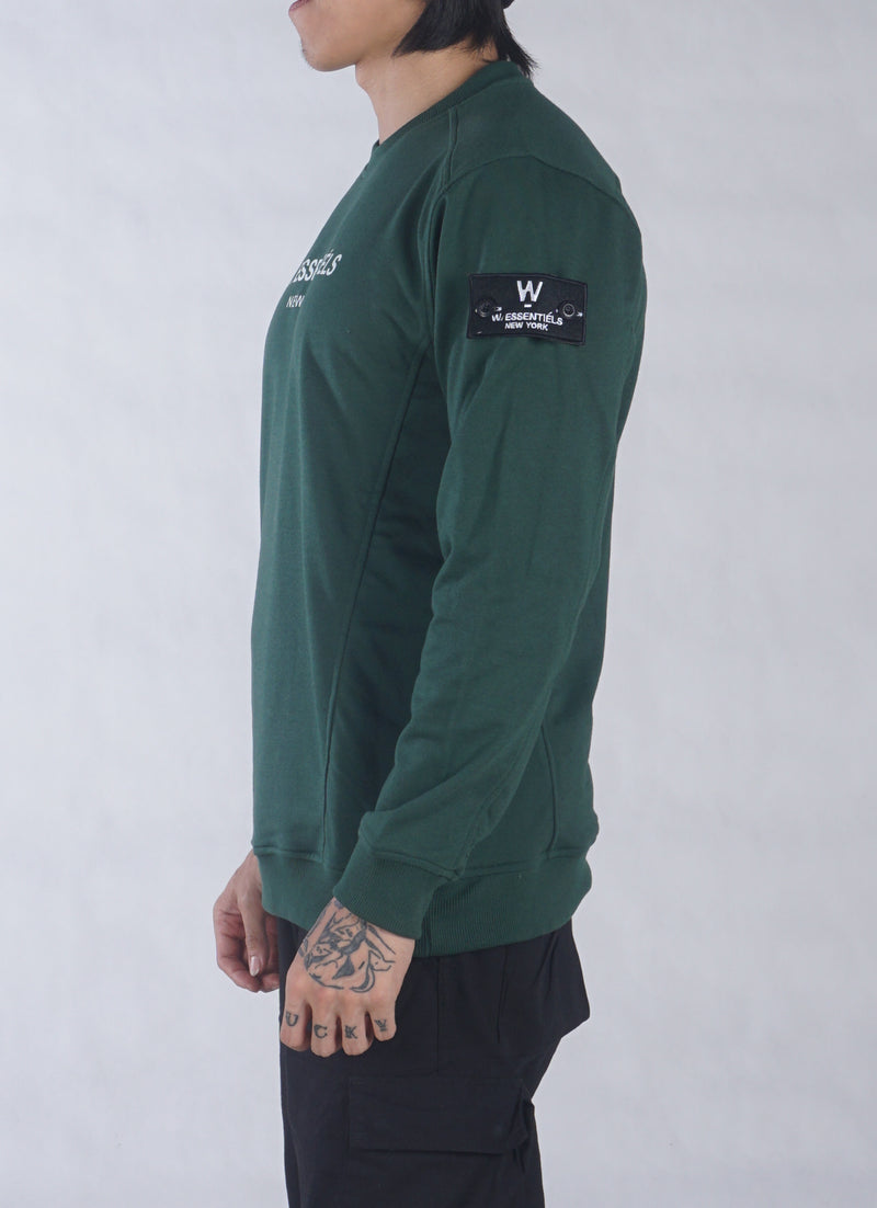 AJACCIO CREWNECK FOREST GREEN