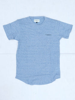 W ESSENTIELS Chest Logo Oversize Tee Shattered Blue