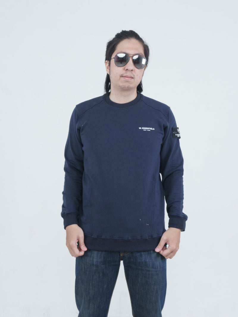 Pouile Chest Logo Crewneck Navy