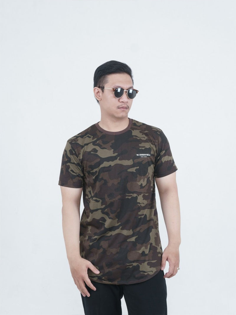 Chest Logo Woodland Camo