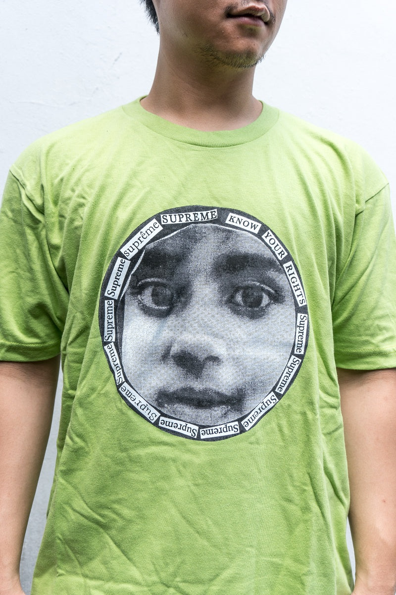 Supreme Know Your Rights Tee Lime