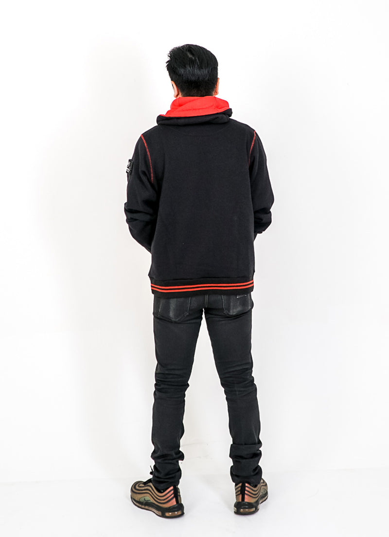 Coup De Coude Oversize Jacket Black/Red