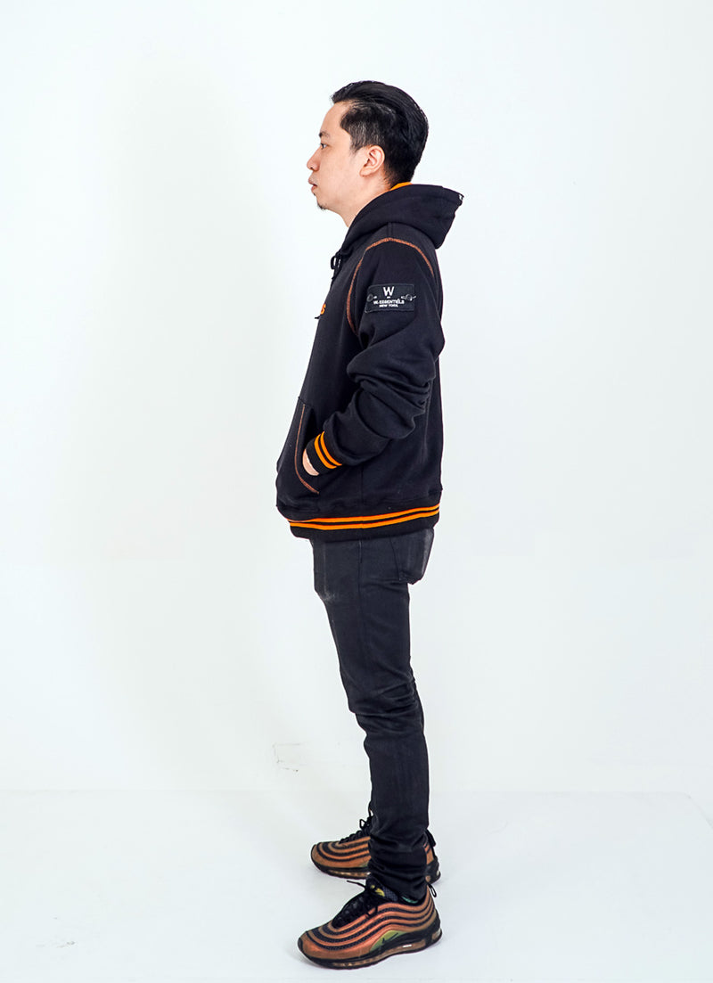 Coup de Coude Oversize Jacket Black/orange