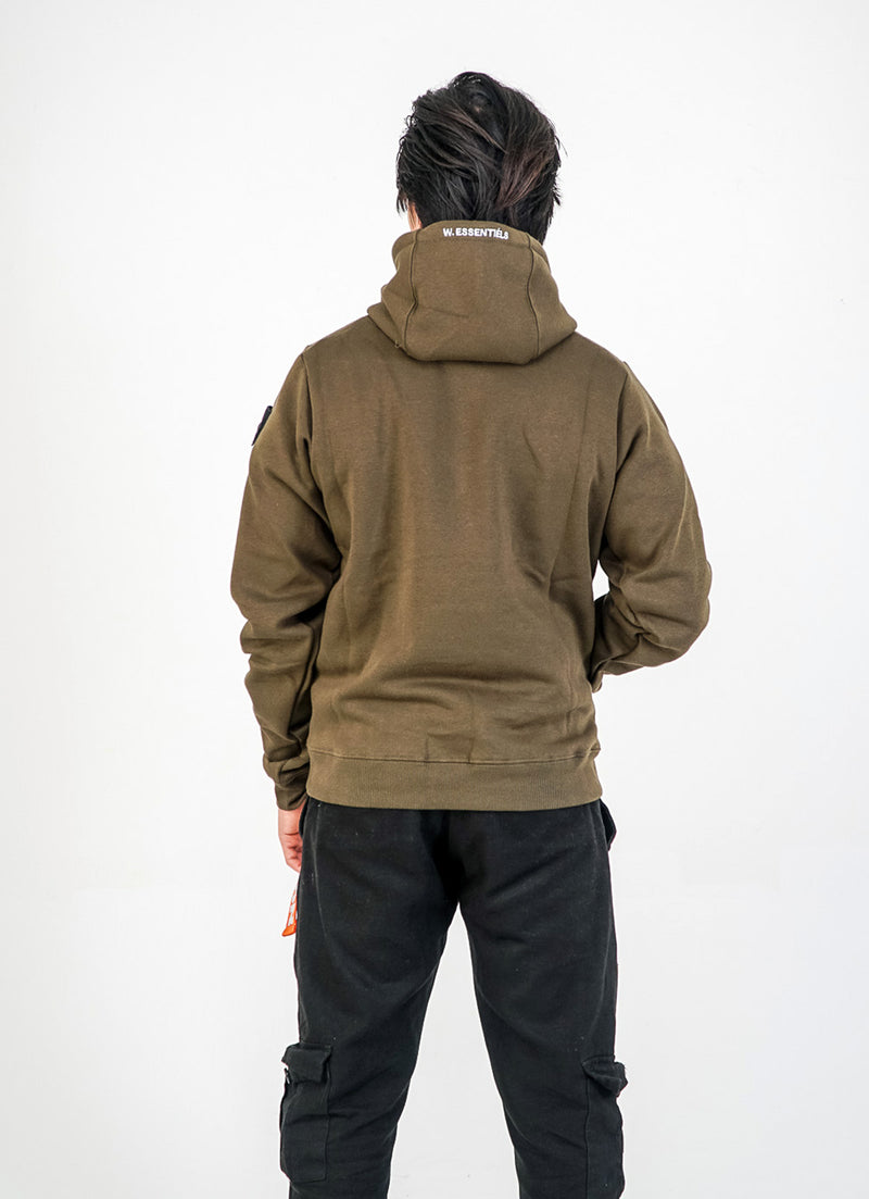 Le Petit Pouile Hoodie Olive Green