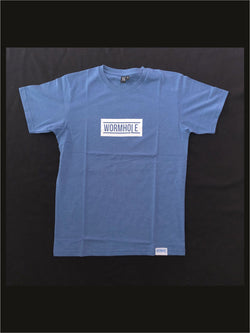 Wormhole Merch Box Logo Classic Cut Washed Blue