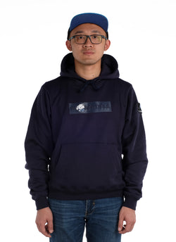 W.ESSENTIELS X EVOS Box Logo Hoodie Navy