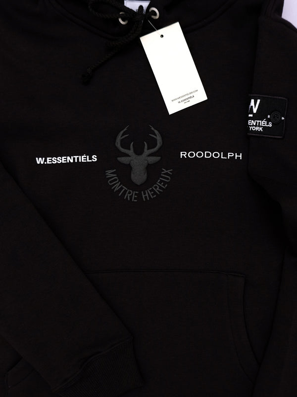 W.ESSENTIELS x ROODOLPH Ecume Oversize Hoodie Noir Montre Hereux