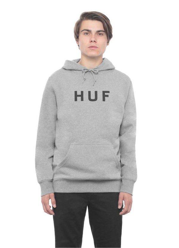 HUF OG Logo Pullover Hoodie Grey Heather