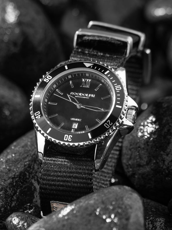 W.ESSENTIELS x ROODOLPH Fathoms Noir Diver Watch Montre Hereux