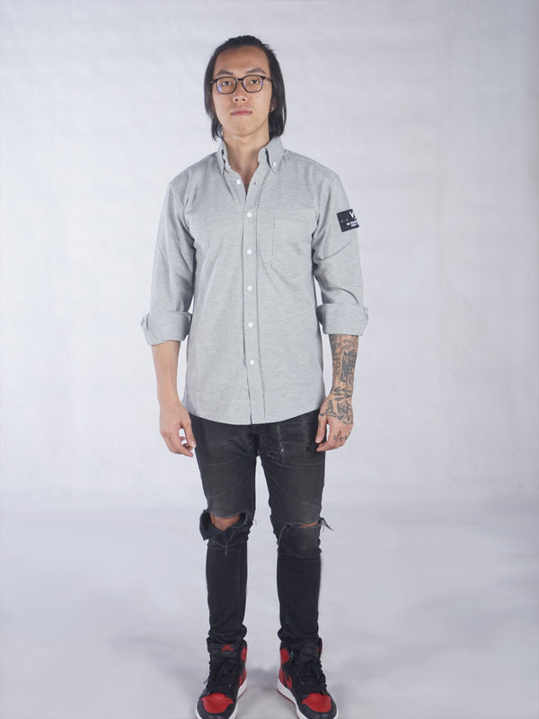 Le Courtin Shirt White Heather Grey