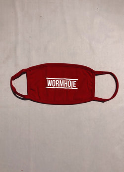 WORMHOLE Logo Mask Cherry Red