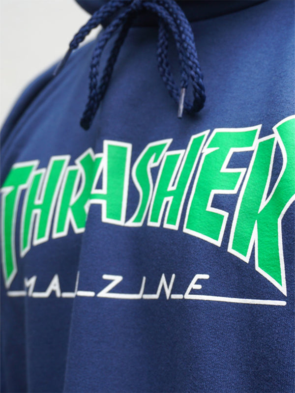 Thrasher Outlined Hood Navy