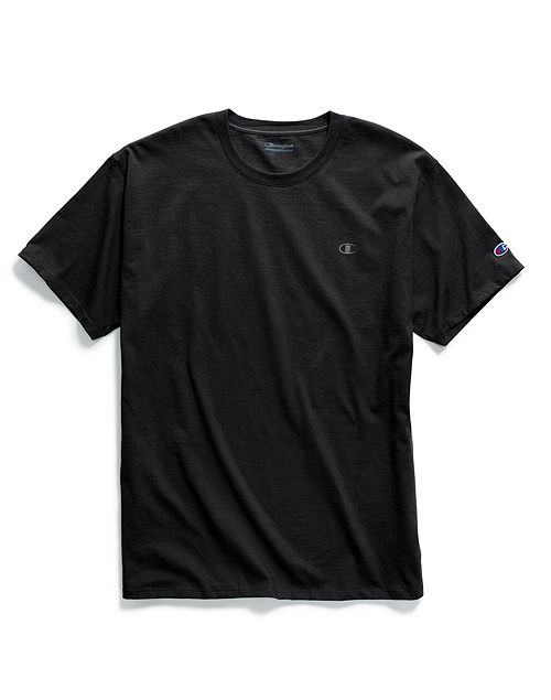 Champion Basic Tee with Tonal Logo (Black)