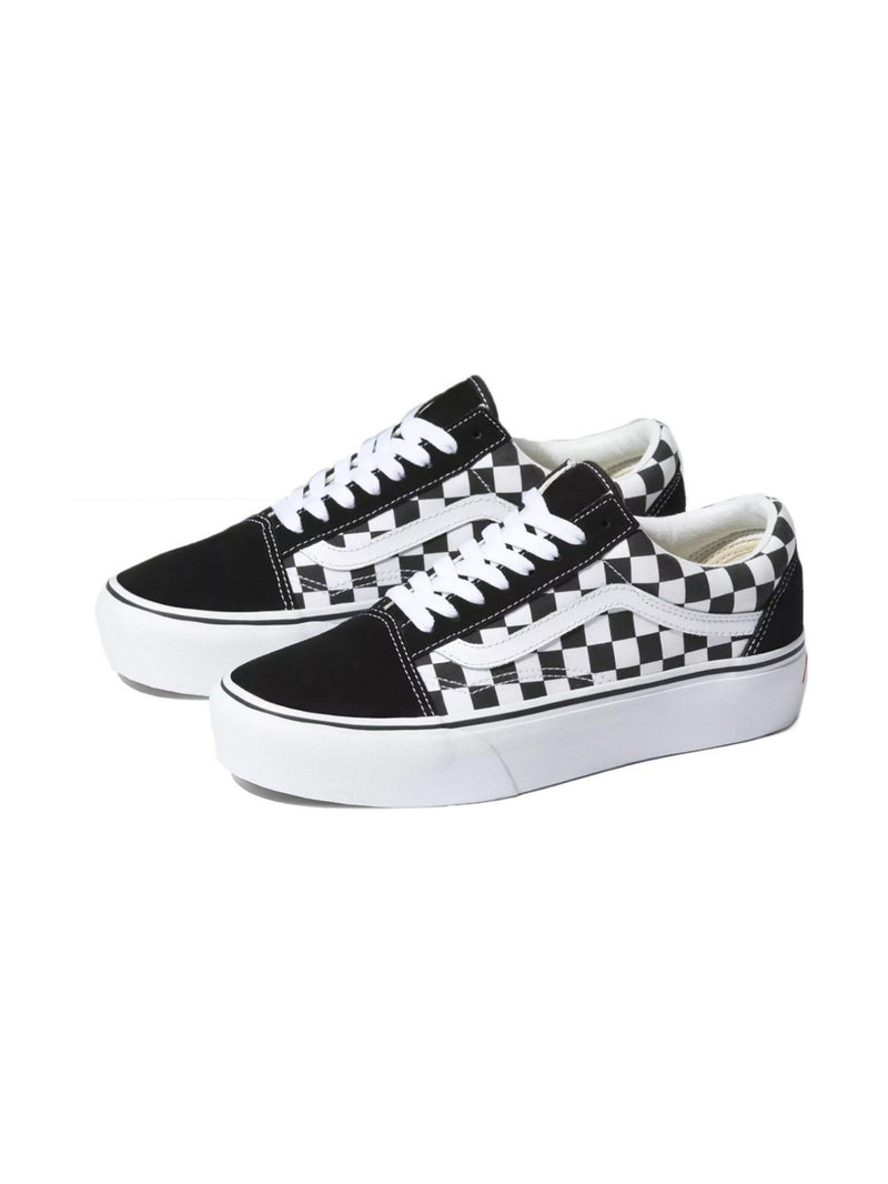 Vans Old Skool Platform Checkerboard Black