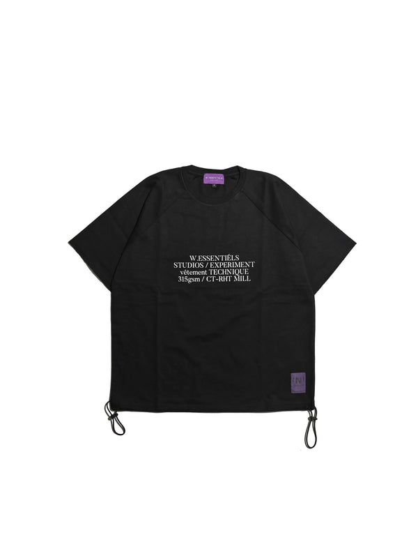 Project Viola Cuirassier 315gsm Oversized T-shirt Noir Black