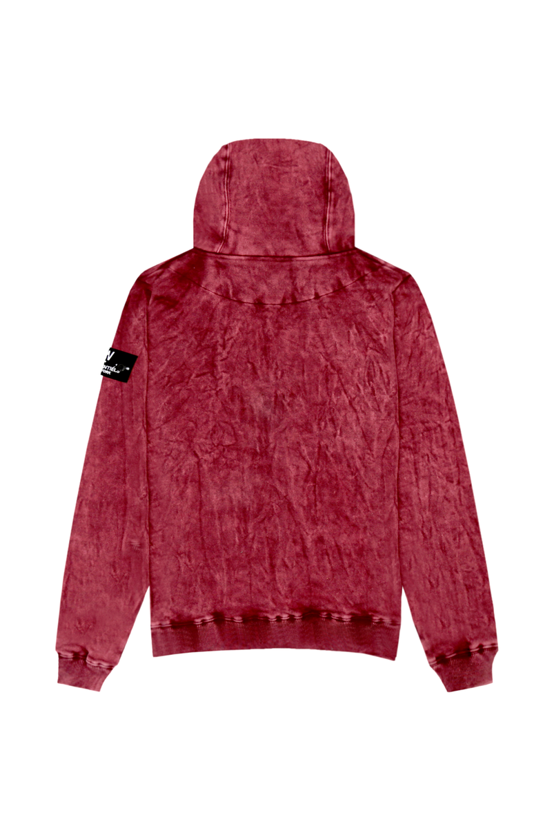 Ecume Acid Wash Oversize Hoodie 330gsm Bloody Mary