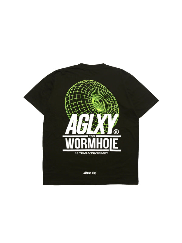 "Wormhole x Ageless Galaxy ""A Decade of Wormhole"" Black Tee"