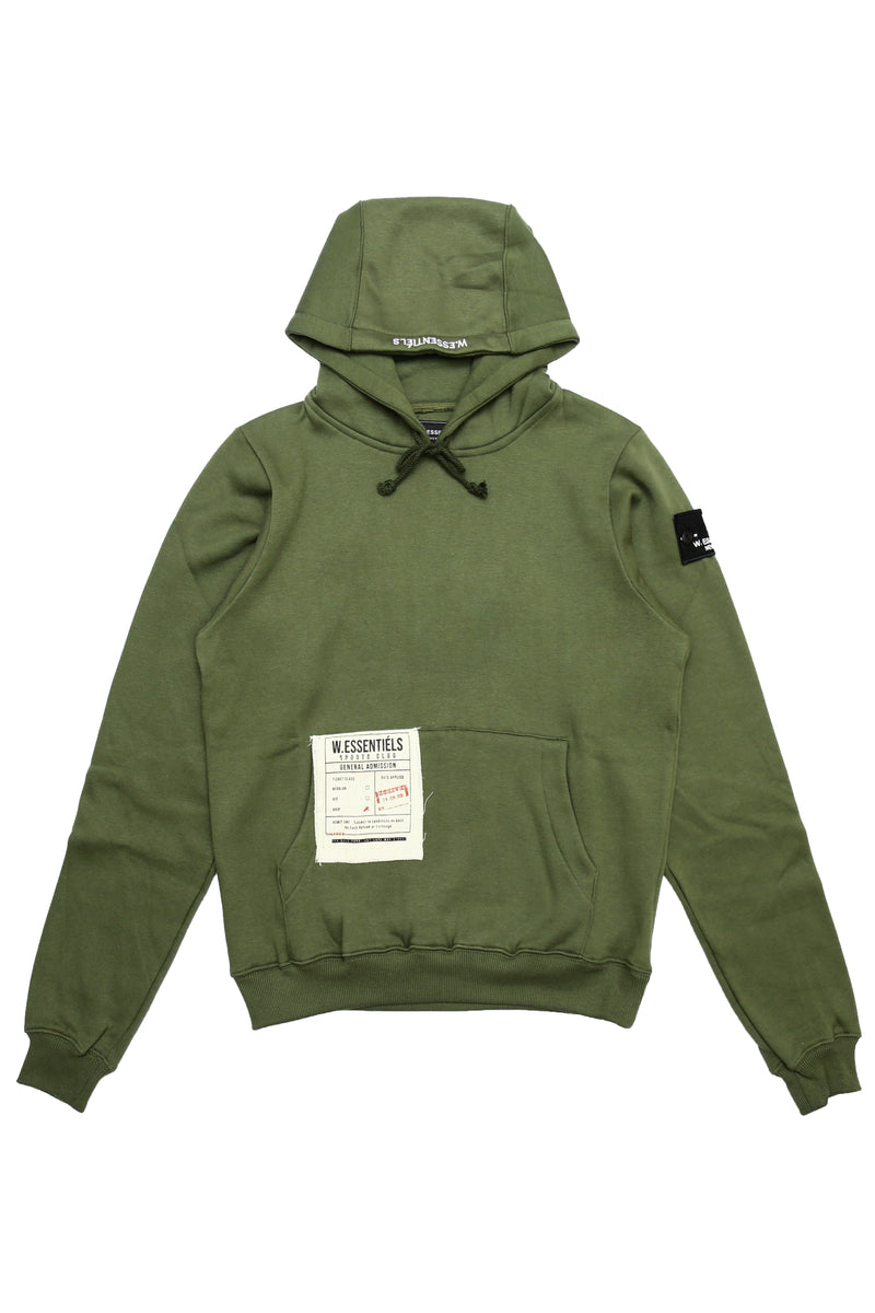 W.ESSENTIELS Stade Geoffroy 1931 Military Green Hoodie