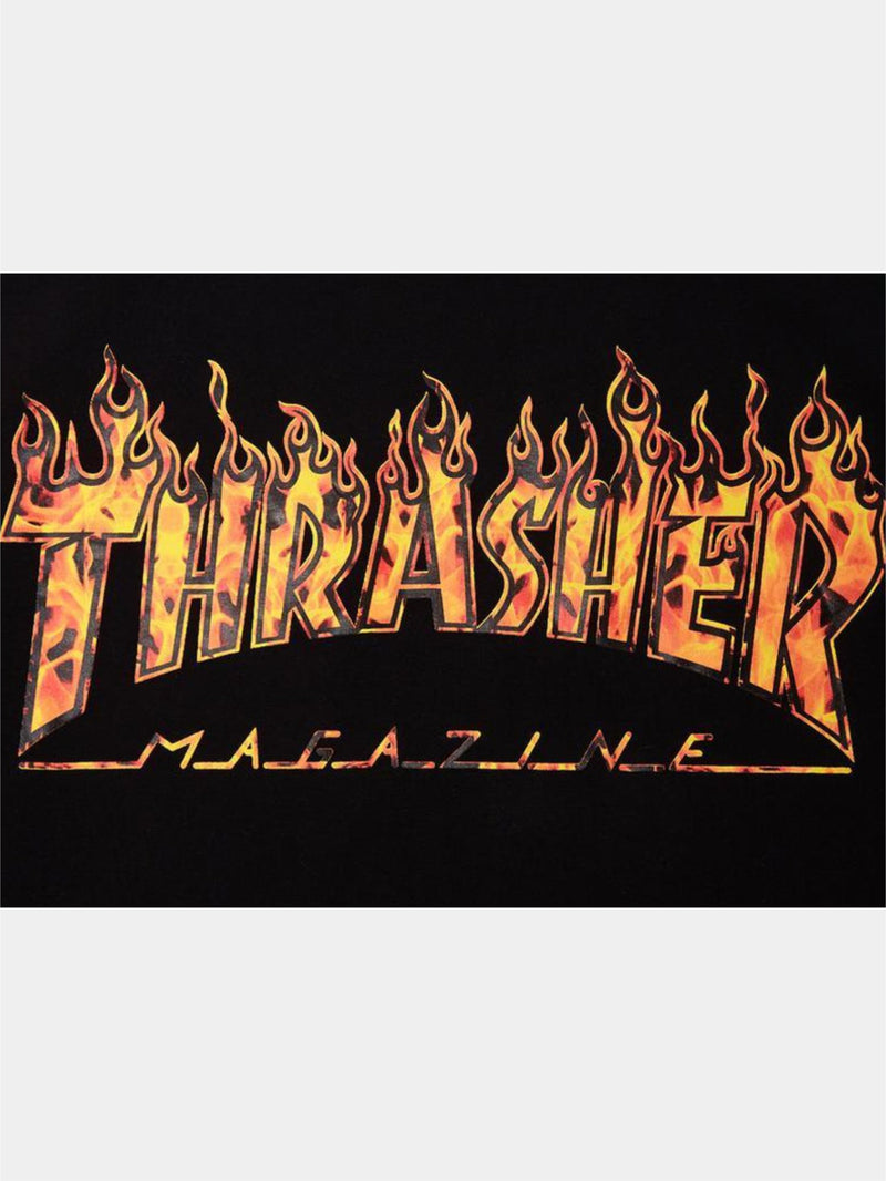 Thrasher Real Flame S/S Tee Black