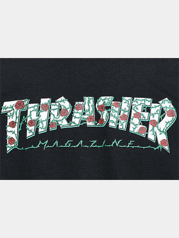 Thrasher Rose Black Tee