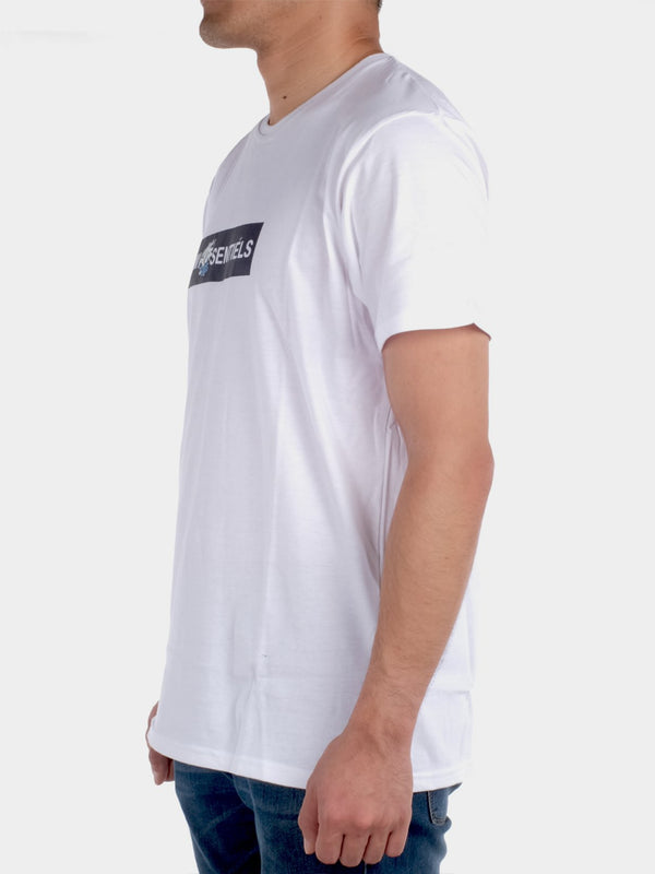 W.ESSENTIELS X EVOS BOX LOGO TEE WHITE