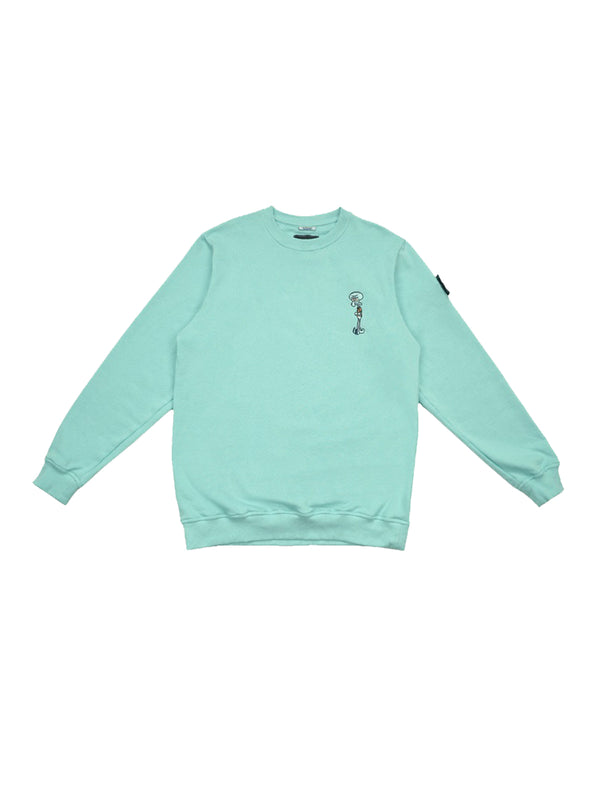 W.ESSENTIÉLS x NEVER TOO OLD Sweater Squidward Type Due Crewneck