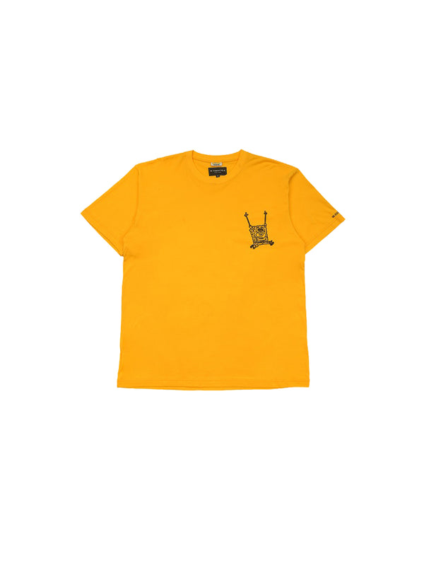 W.ESSENTIÉLS x NEVER TOO OLD Spongebob Boxy Cut T-shirt Mustard