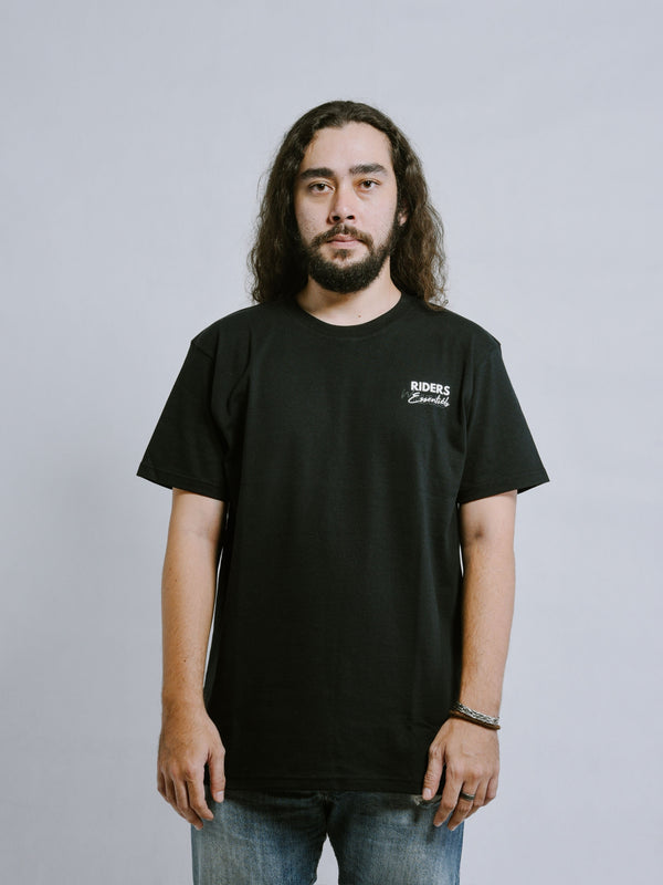 W.ESSENTIÉLS x Riders & Rules General Strike Short Sleeve Tee Black