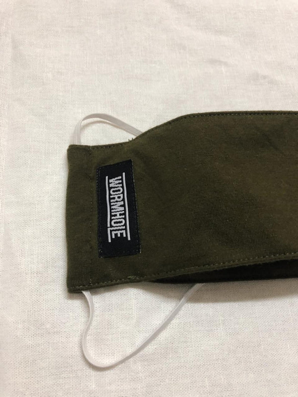 Wormhole Perfetto Face Mask SNI two layers Military Green
