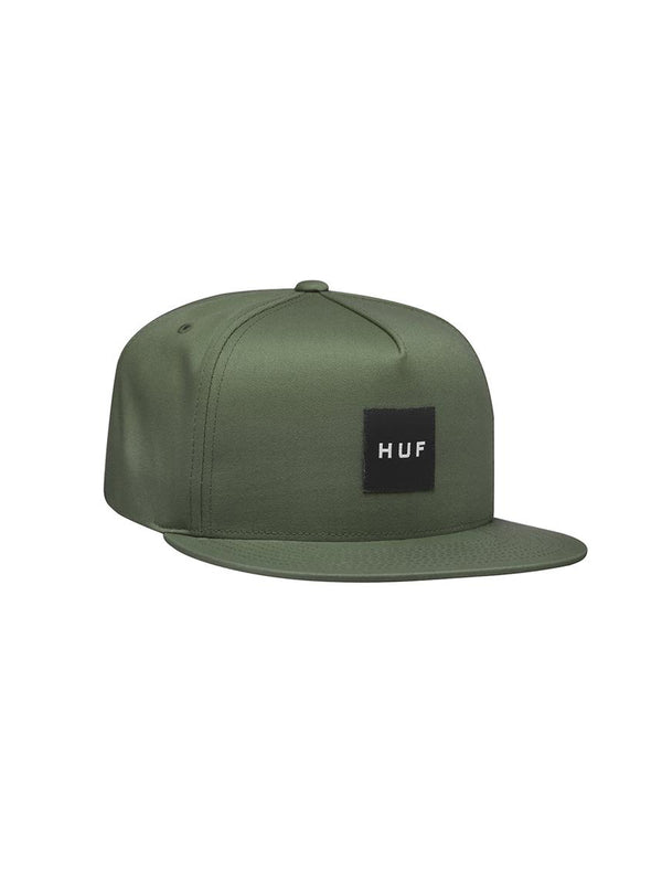 Essentials Box Logo Snapback hat Army