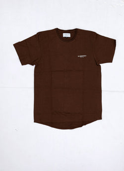 W ESSENTIELS Chest Logo Oversize Tee Espresso