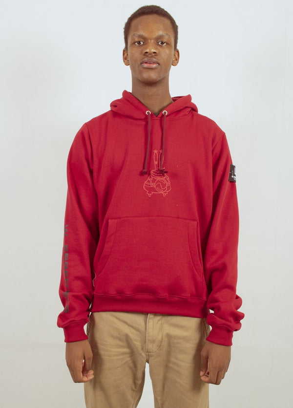 W.ESSENTIÉLS x NEVER TOO OLD | Spongebob - Mr Crab Hoodie Cherry