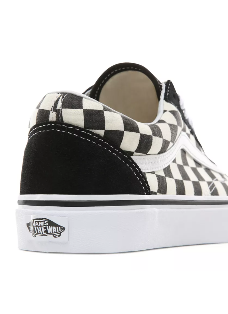 Vans Primary Check Old Skool Shoes Black/White