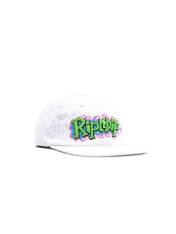 Flaming Hot Corduroy Strapback White