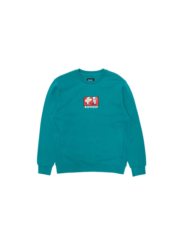 Love Is Blind Crew Sweater Teal