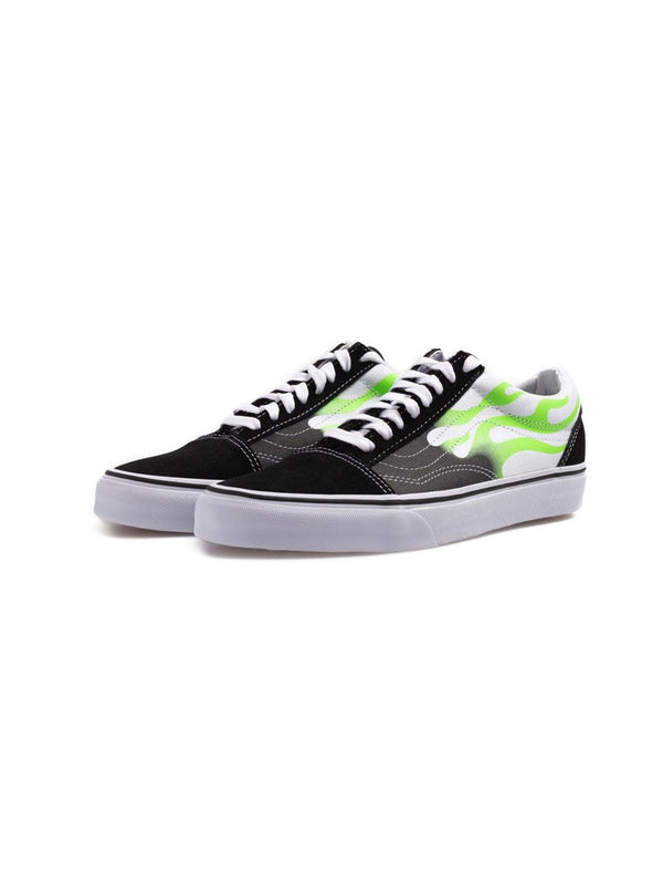 VANS FLAME OLD SKOOL SHOES BLACK/WHITE