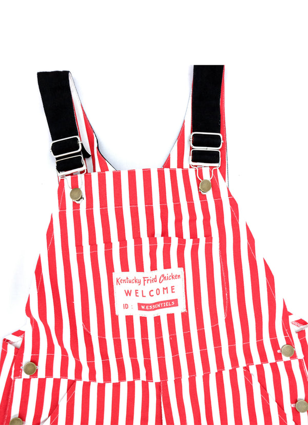 KFC X W.Essentiels Garcons Overall Stripes Red White