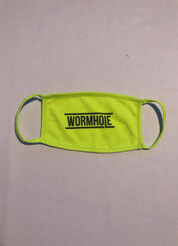 WORMHOLE Logo Mask Lemon