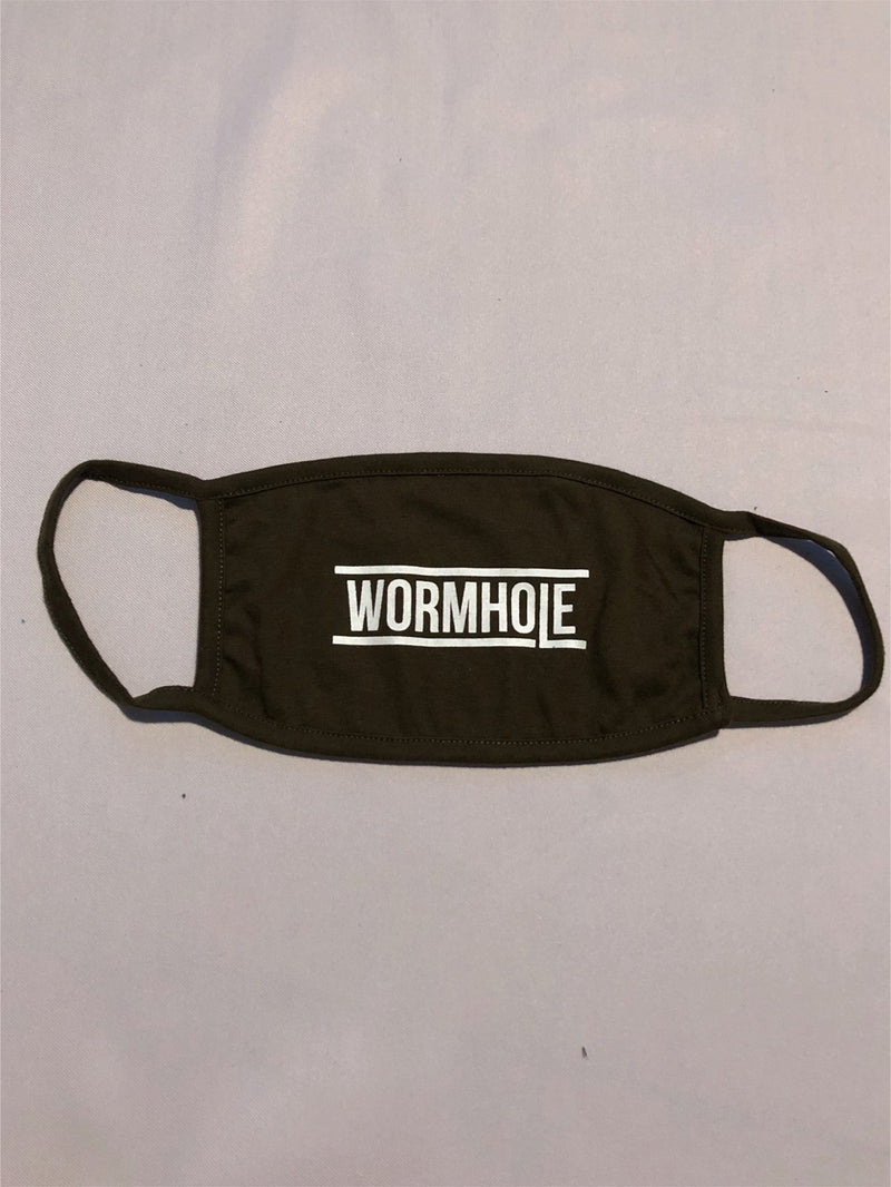 WORMHOLE Logo Mask Military Green
