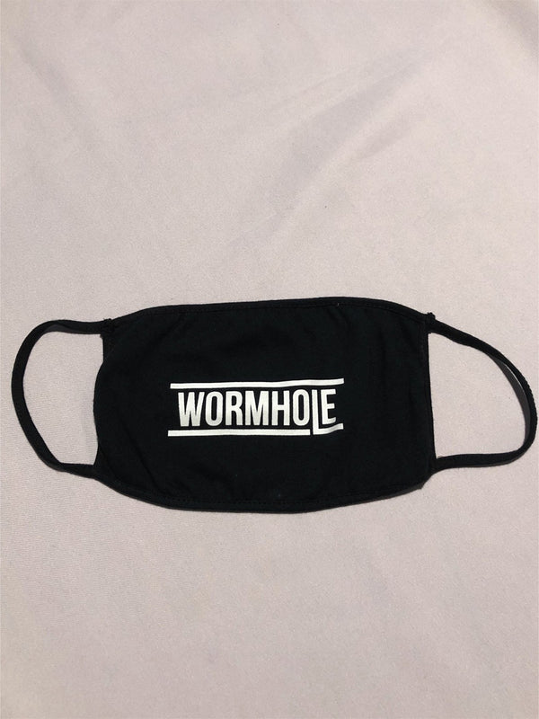 WORMHOLE Logo Mask Black/White