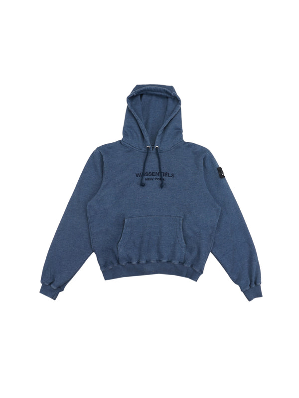 Ecume Oversize Pigment-Dyed Project Hoodie Prussian