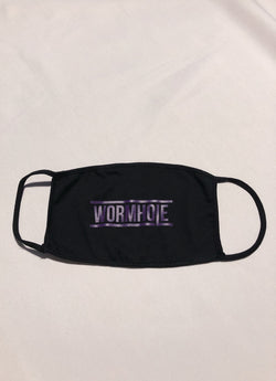 WORMHOLE Logo Mask Black/Purple